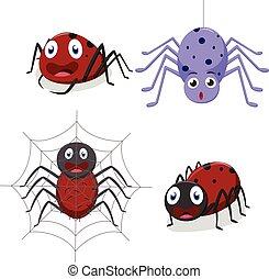 csinos, pók, karikatúra