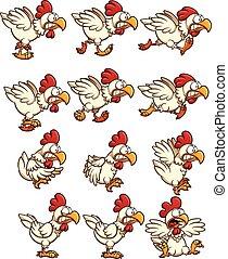 csirke, sprites