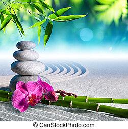 csiszol, homok, masszázs, orhidea