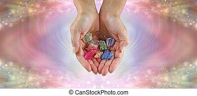 csiszol, tumbled, ajánlat, kuruzsló, kiválasztás, kristály, gyógyulás