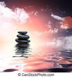 csiszol, víz, gondolkodás, zen, háttér