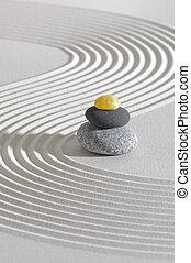 csiszol, zen, kazalba rakott, kert japanese
