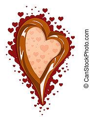 csokoládé, ábra, vektor