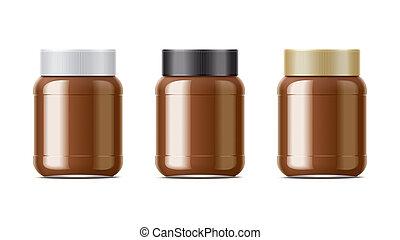 csokoládé, állhatatos, krém, csomag
