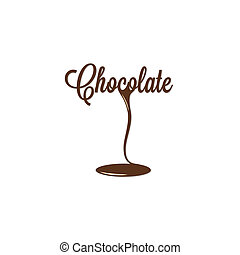 csokoládé, elszigetelt, aláír