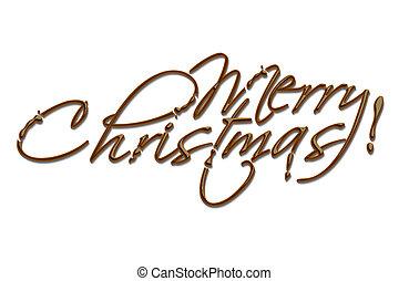 csokoládé, karácsony, szöveg