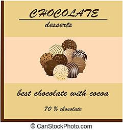 csokoládé, konzervál, tervezés