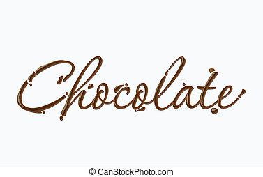csokoládé, szöveg