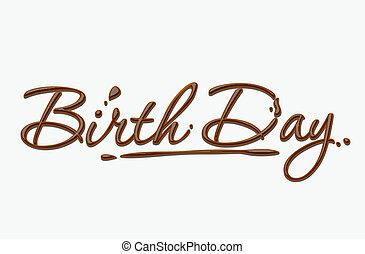 csokoládé, születésnap, szöveg