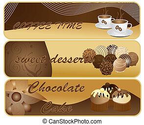 csokoládé, szalagcímek, elvont