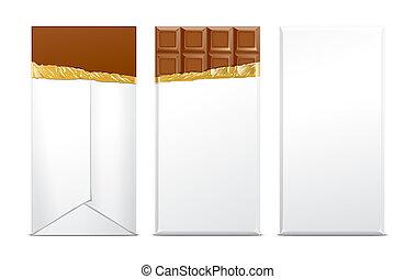 csokoládé, tiszta, csomag