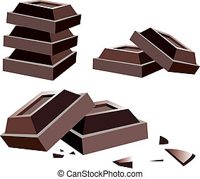 csokoládé, vektor, rács