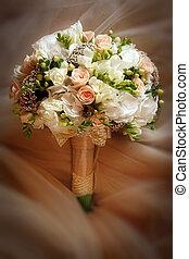 csokor, elzáródik, silk., esküvő