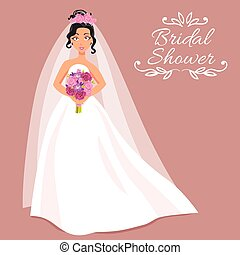 csokor, menyasszony, ruha, fehér