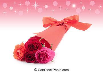 csokor, rózsa, fénylik