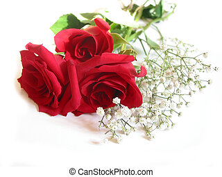 csokor, rózsa, fehér