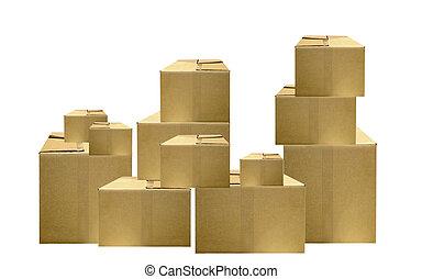 csomagolás, dobozok
