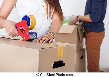 csomagolás, párosít, kartonpapír ökölvívás