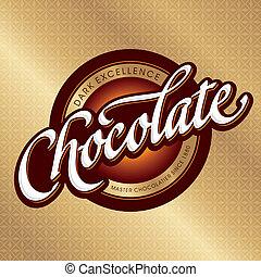 csomagolás, tervezés, (vector), csokoládé