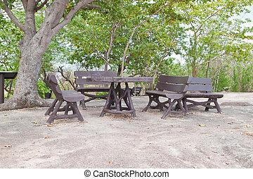 csoport, bírói szék, liget