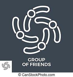 csoport, barátok