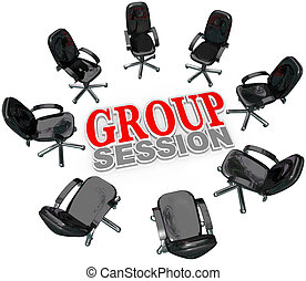 csoport, elnökké választ, vita, ülésszak, karika, gyűlés