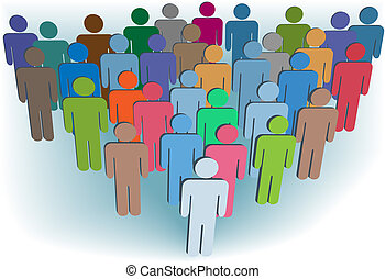 csoport, emberek, jelkép, befest, társaság, vagy, lakosság