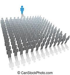 csoport, emberek, nagy, kihallgatás, beszélő, beszél, vezető