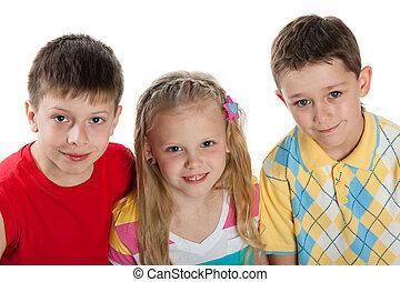 csoport, három gyerek