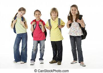 csoport, műterem, gyerekek
