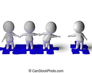 csoport, togetherness, látszik, barátság, barát, ereszték