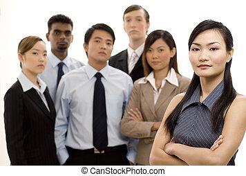 csoport, vezető, ügy 4