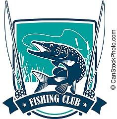 csuka, címertani, klub, fish, halászat, jelkép