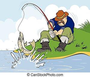 csuka, halász
