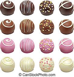 cukorkák, csokoládé