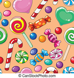 cukorkák, motívum, seamless