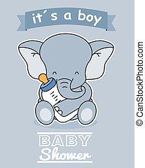 cumisüveg, elefánt