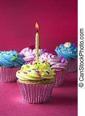 cupcakes, piros
