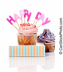 cupcakes, születésnap, latters, colorul