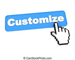 customize, háló, -, button.