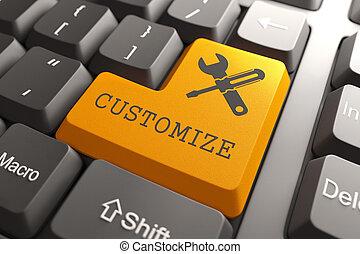 customize, narancs, button., billentyűzet