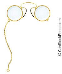 cvikker, szemüveg, vektor, ábra