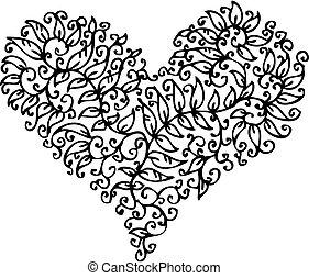 cxxxv, szív, romantikus, könyvcímrajz