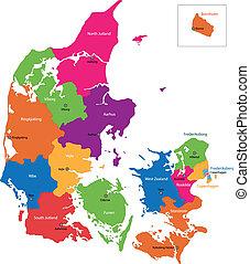 dánia, térkép