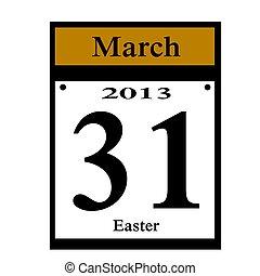 dátum, húsvét, 2013