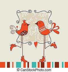 dátum, madarak, romantikus
