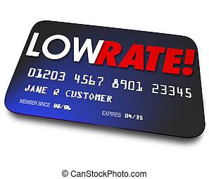 díjak, műanyag, hitel, arány, alacsonyabb érdekes, kártya, százalék, paymen