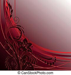 díszítés, dark-red