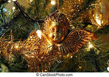 díszítés, karácsony, angyal