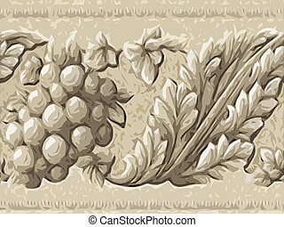 díszítő, elvont, növényvilág